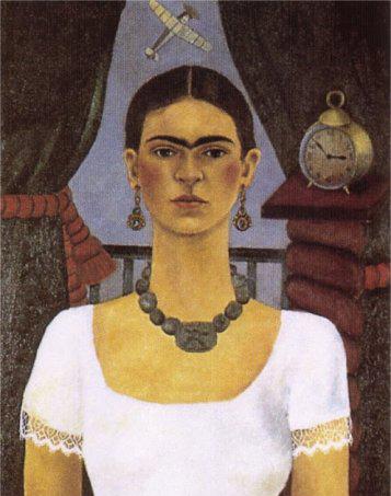 Auto-Retrato-O-tempo-voa-1929-Frida-Kahlo